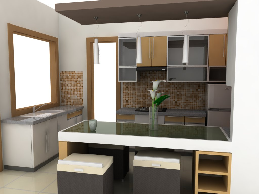 Dapur lengkong wallpaper design annual report tattoo for Model kitchen set sederhana
