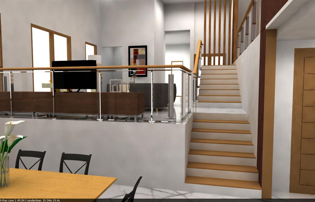 Renovasi render interior rumah tinggal wallpaper for Interior decoration rumah