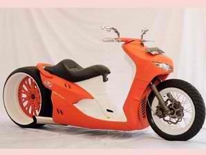 MODIFIKASI MIO Low Rider dan Chopper