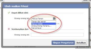 Cara Menyembunyikan Update Status Facebook