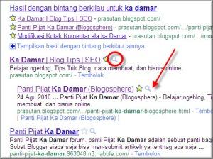 Preview Web / Blog pada Hasil Pencarian Google